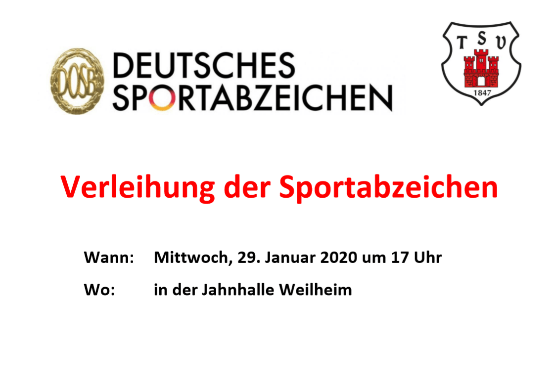 Aushang Verleihung Sportabzeichen