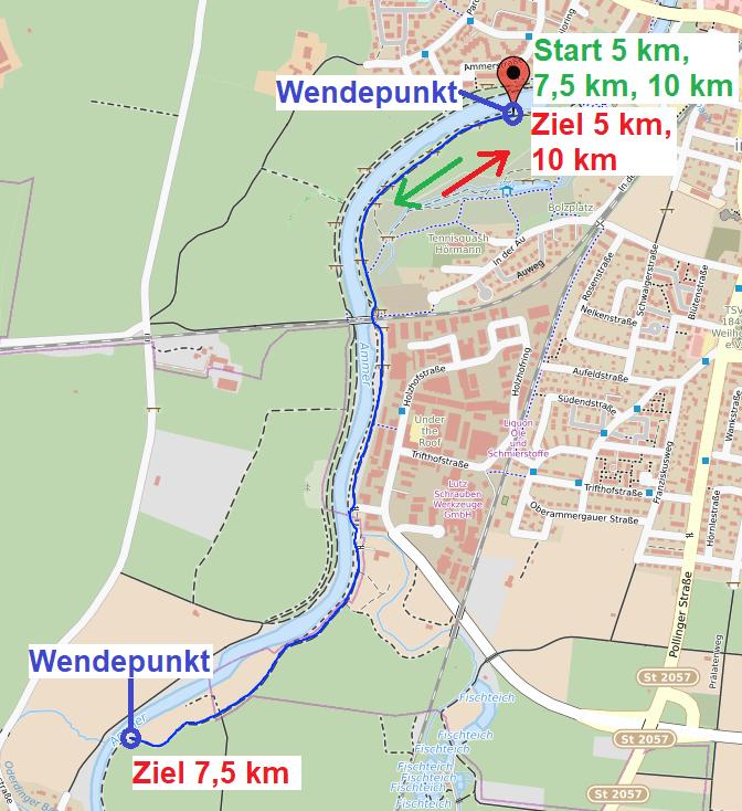 Weilheimer Aulauf 2021 Ammerdamm