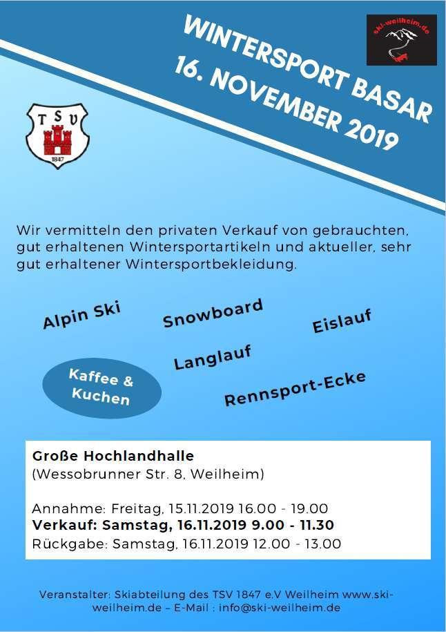 Plakat Wintersportbasar fm