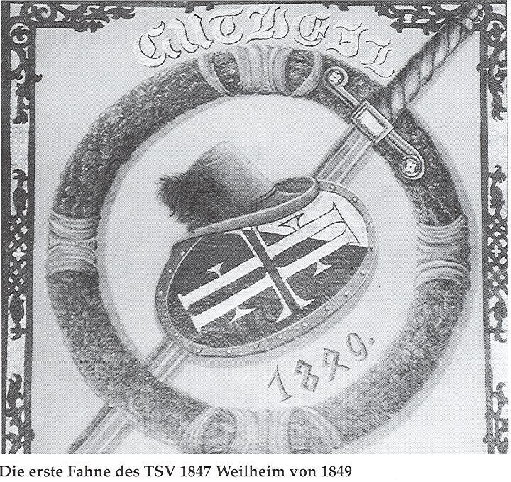 Erste Fahne Schwarzweiß