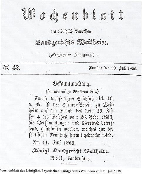 Wochenblatt des Landgerichts