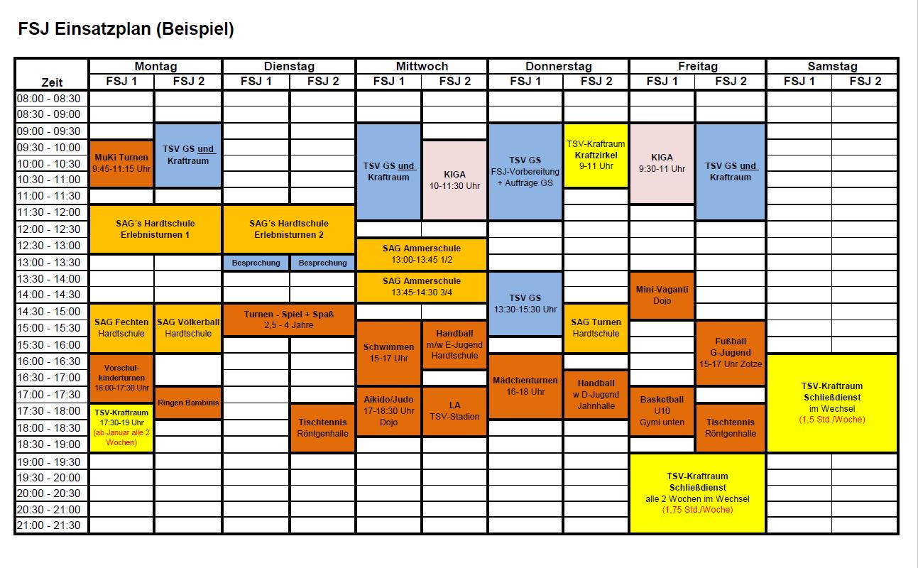 FSJ-Einsatzplan