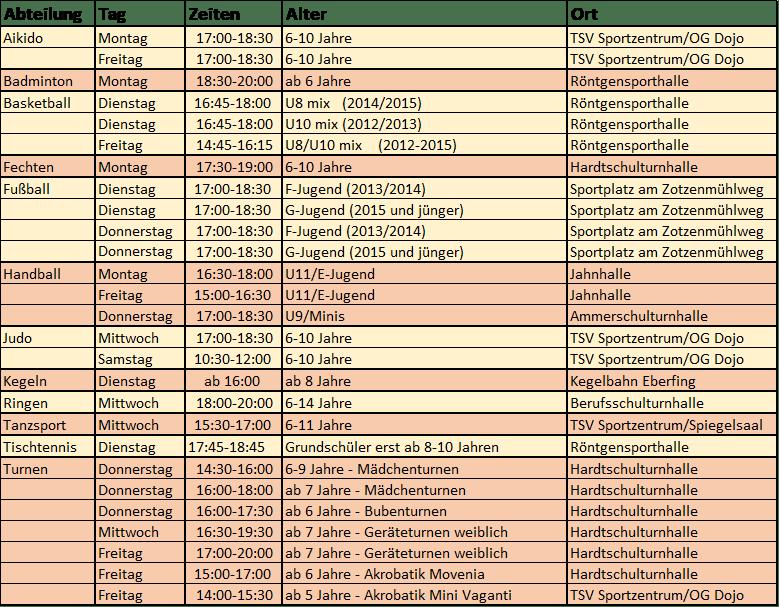 2021 Schnuperangebot Herbst 2021