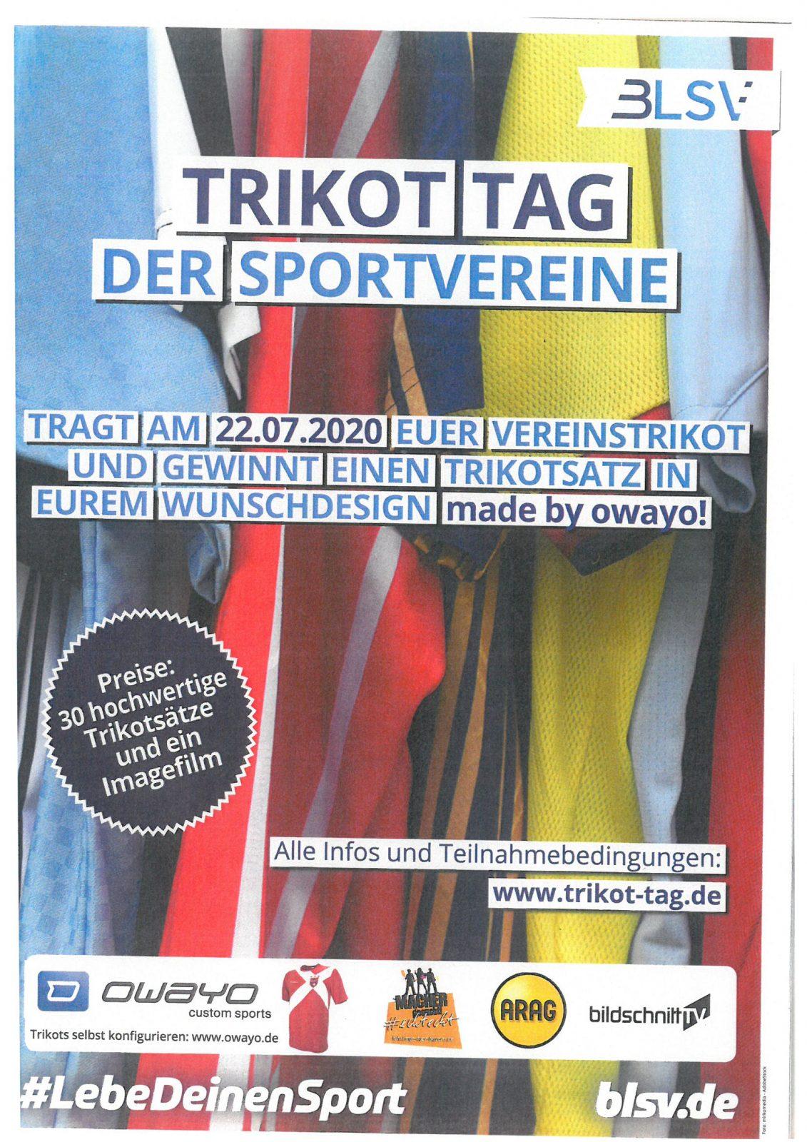 Plakat Trikot-Tag 2020